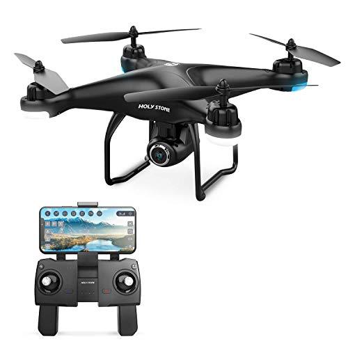 Holy Stone HS120D Drohne mit 2K Kamera HD und GPS Follow Me,RC Quadrocopter ferngesteuert mit Live Übertragung,Wifi APP Steuerung,Coming Home,längere Flugzeit,Foto Drohne für Kinder Anfänger