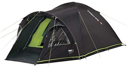 High Peak Kuppelzelt Talos 4, Campingzelt mit Vorbau, Iglu-Zelt für 4 Personen, doppelwandig, 4.000 mm wasserdicht, Vorbau mit Zeltboden, Ventilationssystem, Moskitoschutz, Klarsichtfolien-Fenster