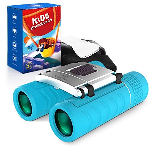 WayEee Fernglas Feldstecher Für Kinder 8 x 22 Outdoor Explorer Hoher Vergrößerung Leichte Kompaktteleskope Optimales Geschenk Spielzeug Für Jungen und Mädchen
