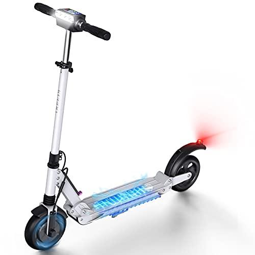 AZAMPA Elektroroller Erwachsene 30km E Roller 350W Elektroscooter 30kmh E Scooter mit LCD-Display Wasserdichter Faltbarer E Tretroller , 8