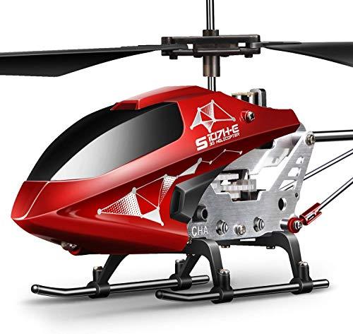 SYMA Hubschrauber ferngesteuert Helikopter Fernbedienung RC Helicopter Indoor Flugzeug Geschenk Kinder S107H-E 3.5 Kanal 2.4 Ghz LED Leucht Gyro Höhe halten